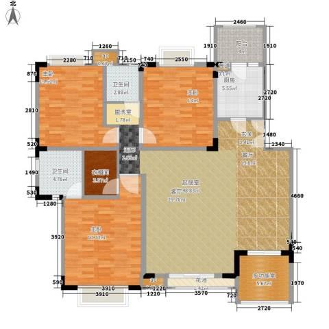 美好家园3室0厅2卫1厨134.00㎡户型图