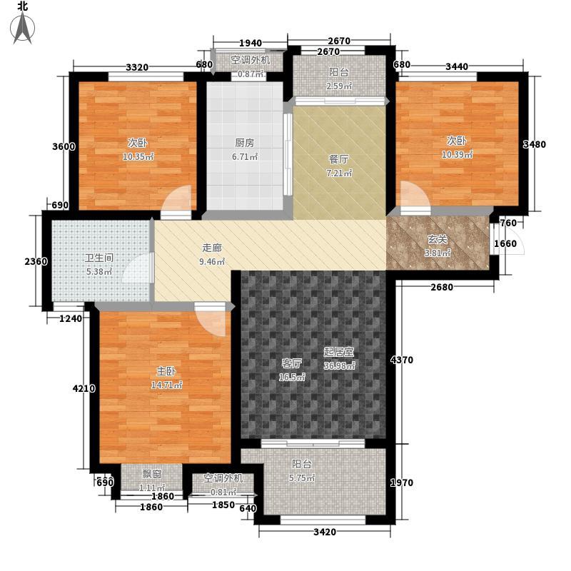 绿地新里梵尔赛公馆107.00㎡B4'户型3室2厅