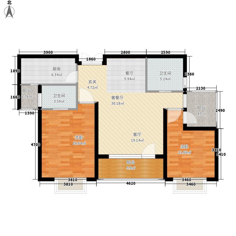 中部慧谷二期101.00㎡C2户型2室2厅