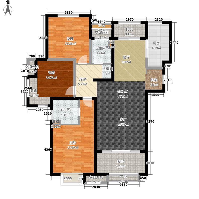 绿地新里梵尔赛公馆130.00㎡C3户型3室2厅