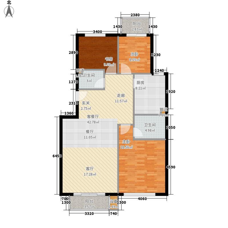 青岛印象·金沙滩118.00㎡B户型3室2厅