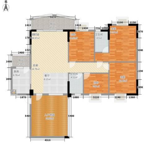 金泰瑞和园4室0厅2卫1厨167.00㎡户型图