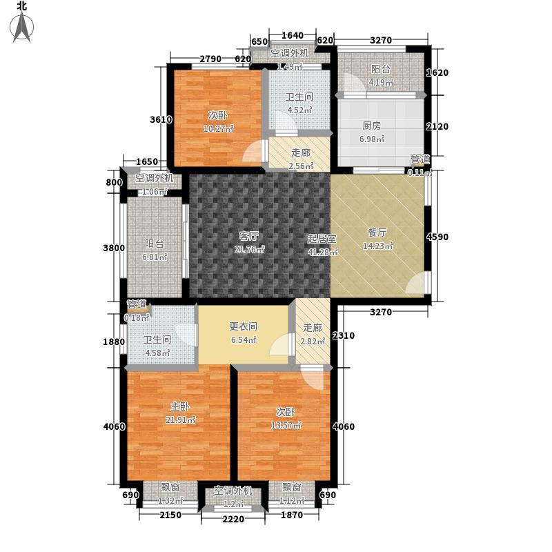 绿地新里梵尔赛公馆131.00㎡C1户型3室2厅