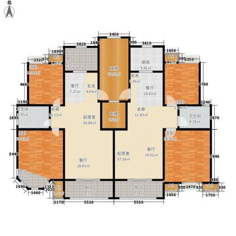幸福人家4室0厅2卫1厨409.00㎡户型图