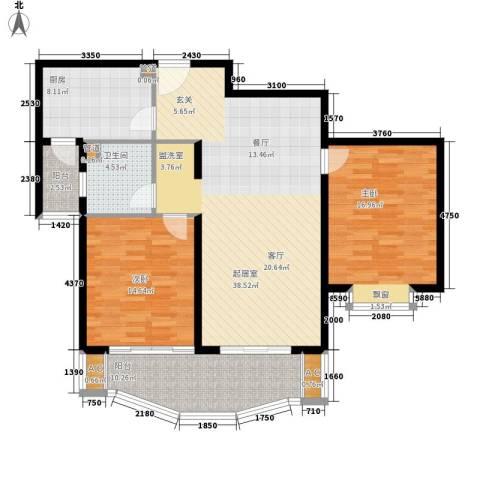 西雅图嘉萱苑2室0厅1卫1厨138.00㎡户型图