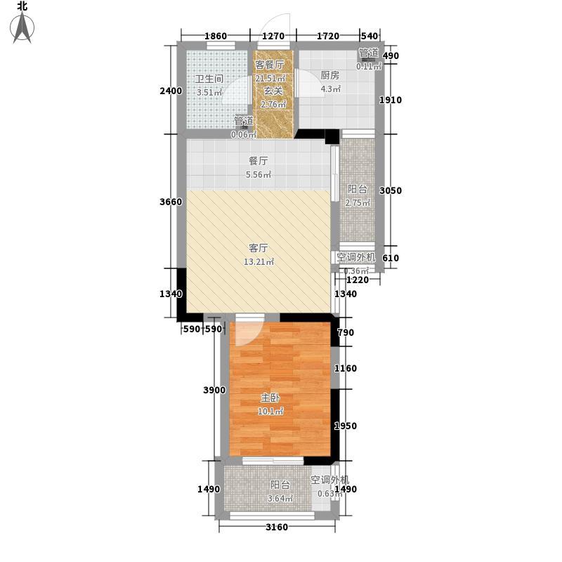 隆昊昊天园60.00㎡玲珑阁K3型29#楼户型1室1厅
