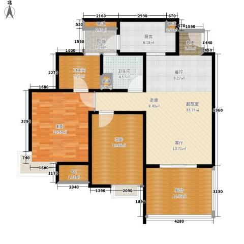 远雄兰苑2室0厅2卫1厨109.00㎡户型图