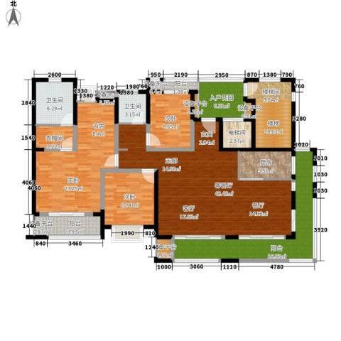 景瑞理想之光3室1厅2卫1厨177.10㎡户型图