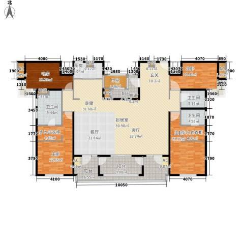 远雄兰苑4室0厅3卫1厨248.00㎡户型图