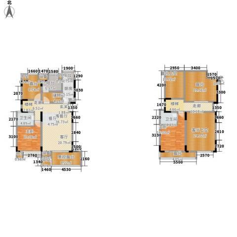 天盈首原2室1厅2卫1厨266.00㎡户型图