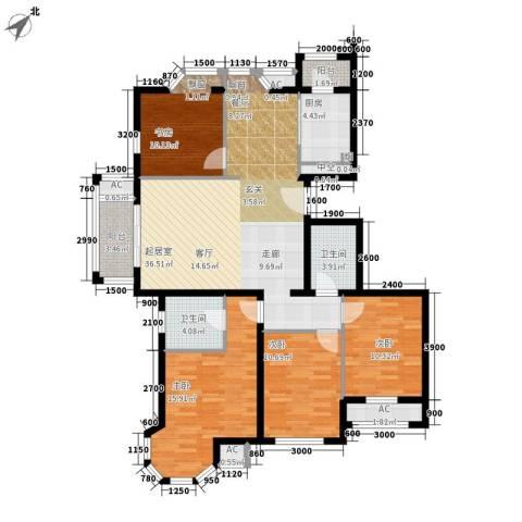 加州水郡一期4室0厅2卫1厨152.00㎡户型图