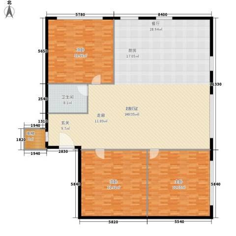 北京银泰中心3室0厅1卫0厨288.00㎡户型图