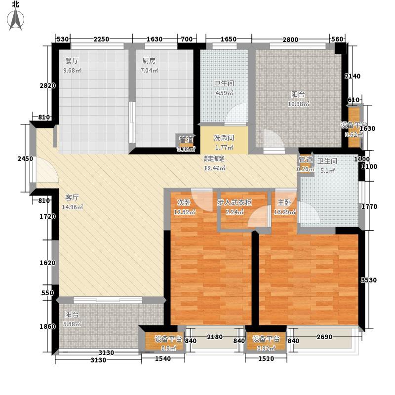 圆融广场115.00㎡D户型3室2厅