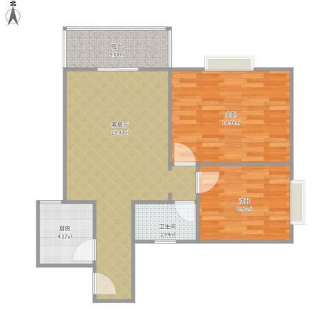 西安学林雅苑.jpg2室1厅1卫1厨80.00㎡户型图