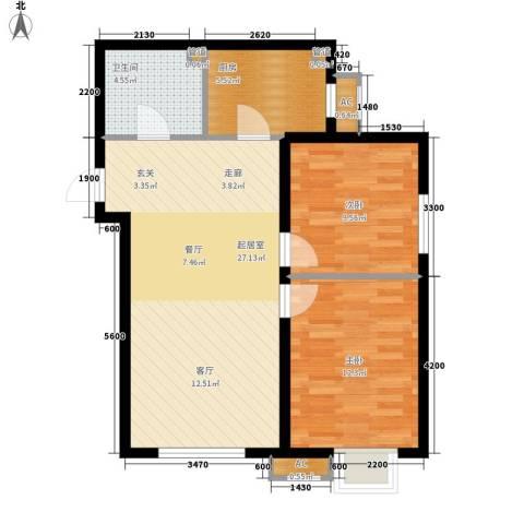 华润橡树湾2室0厅1卫1厨85.00㎡户型图