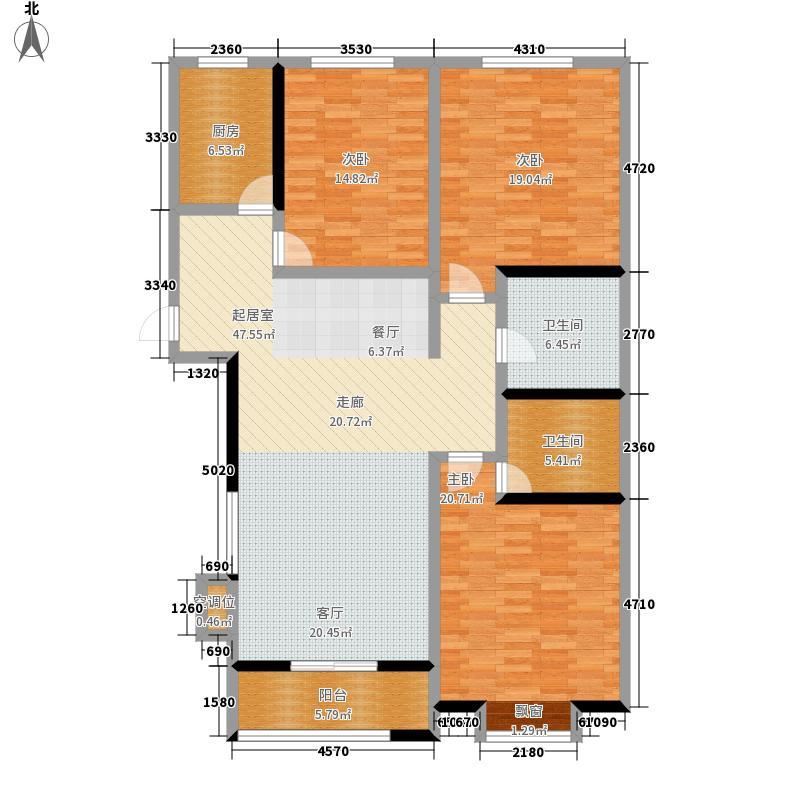 汇丰国际144.00㎡户型3室2厅