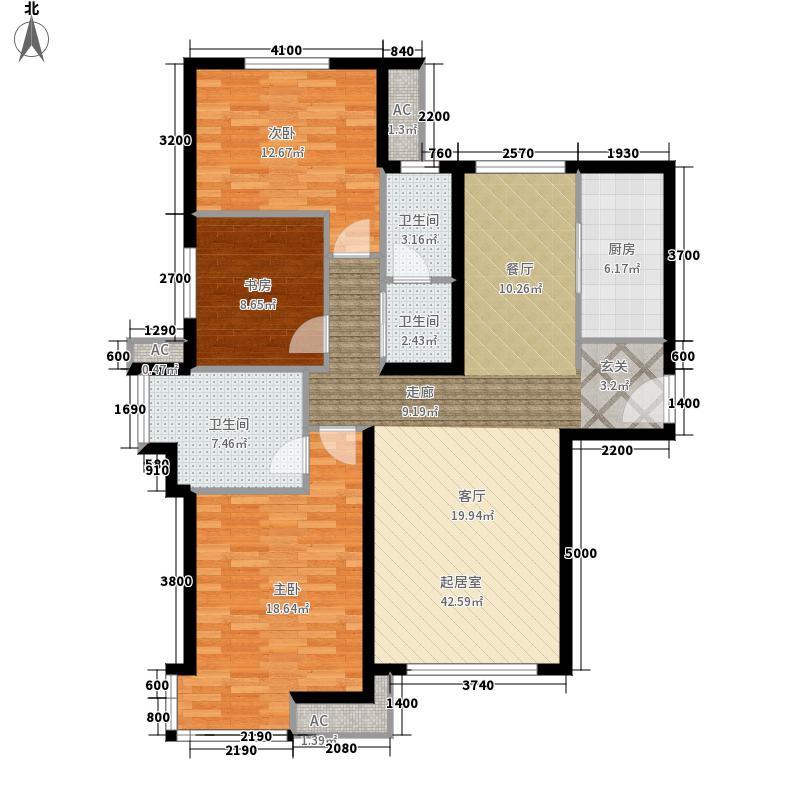 融科橄榄城3g三室两厅两卫户型