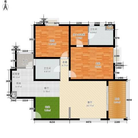 远雄兰苑2室0厅2卫0厨125.00㎡户型图