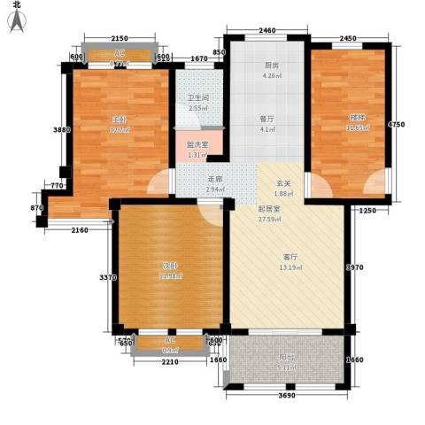 康桥郦湾2室0厅1卫0厨103.00㎡户型图