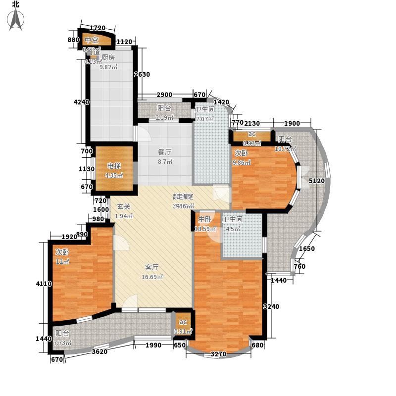 绿城养生堂千岛湖玫瑰园158.81㎡高层公寓D户型