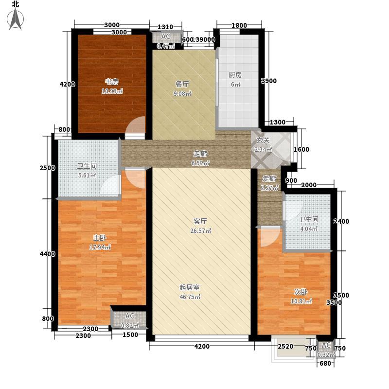 融科橄榄城3d三室两厅两卫户型