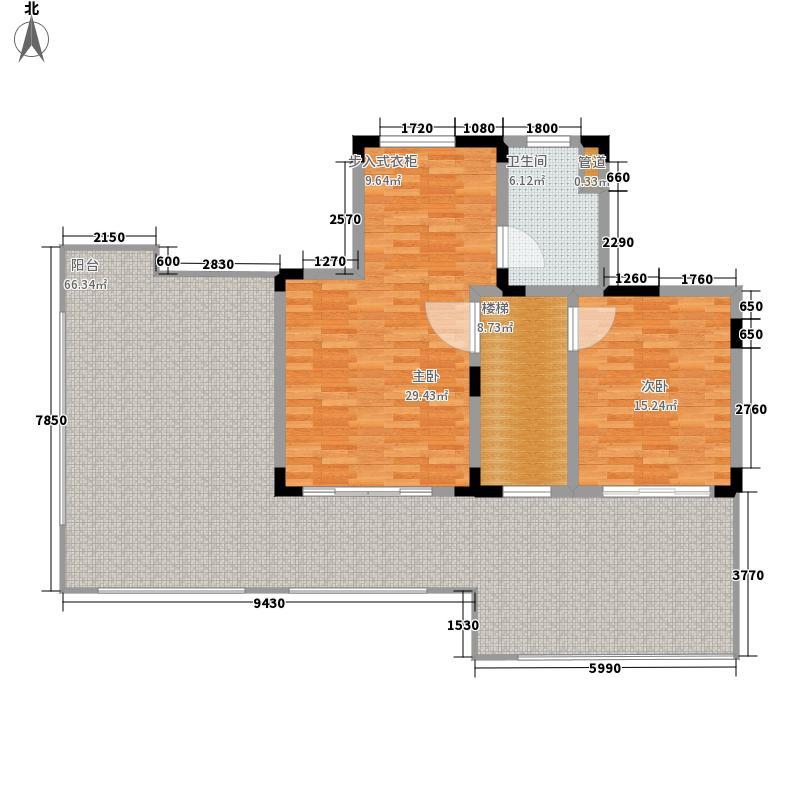 奥克斯盛世缔壹城138.00㎡E1-138户型2室2厅