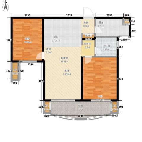 首开班芙春天2室0厅1卫1厨96.00㎡户型图