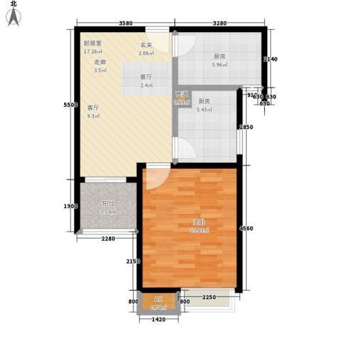 天山华庭1室0厅0卫2厨55.00㎡户型图