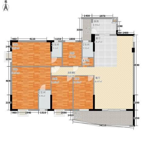 金泰瑞和园5室0厅3卫1厨232.00㎡户型图