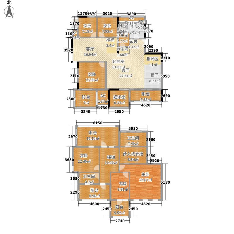 鑫苑名家271.00㎡鑫苑·名家洋房HB-5户型6室3厅