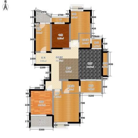 金色家园4室0厅2卫1厨165.00㎡户型图