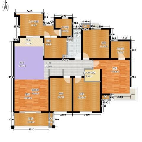 慧芝湖花园二期4室0厅2卫1厨155.00㎡户型图