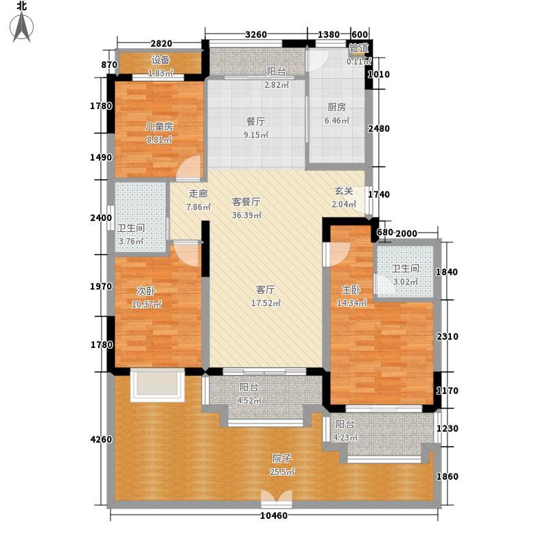 中交·阳光屿岸141.54㎡洋房F6户型3室2厅