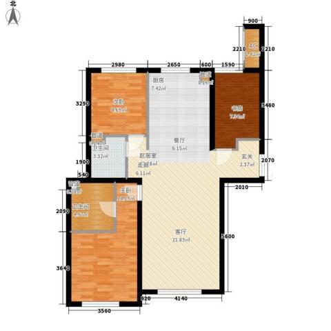 天润福熙大道3室0厅2卫0厨125.00㎡户型图