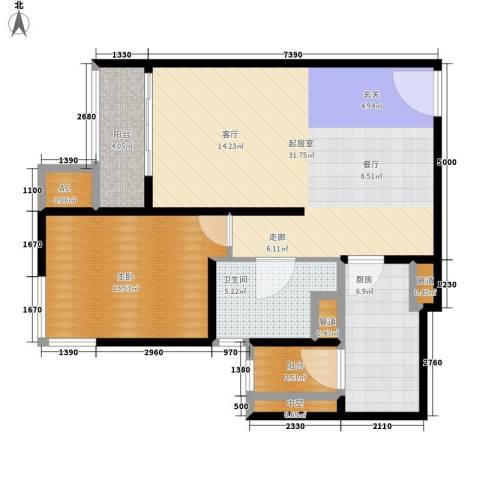 远雄兰苑1室0厅1卫1厨75.00㎡户型图