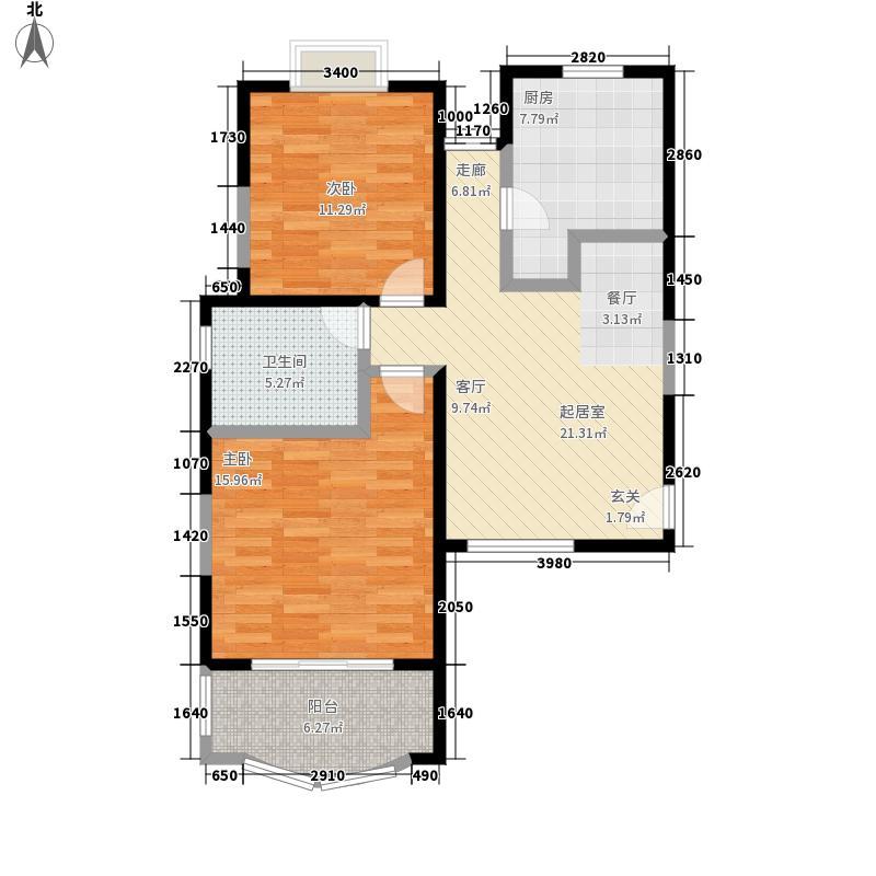 永兆豪庭77.00㎡上海面积7700m户型