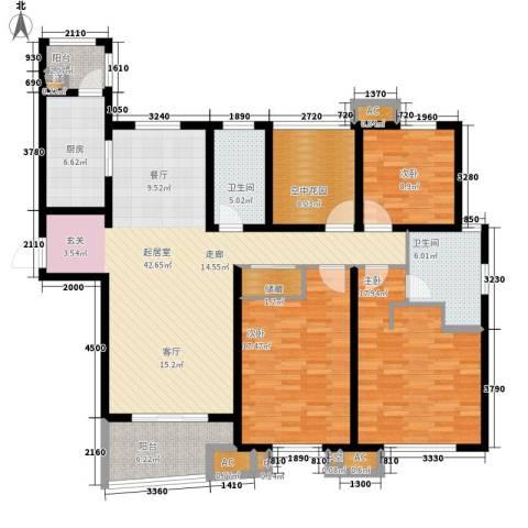 首开班芙春天3室0厅2卫1厨145.00㎡户型图