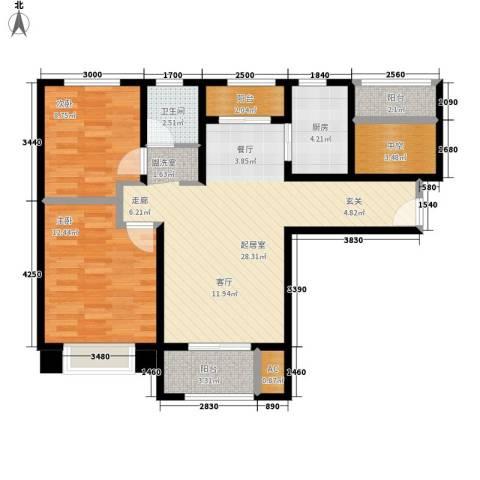中南世纪城2室0厅1卫1厨100.00㎡户型图