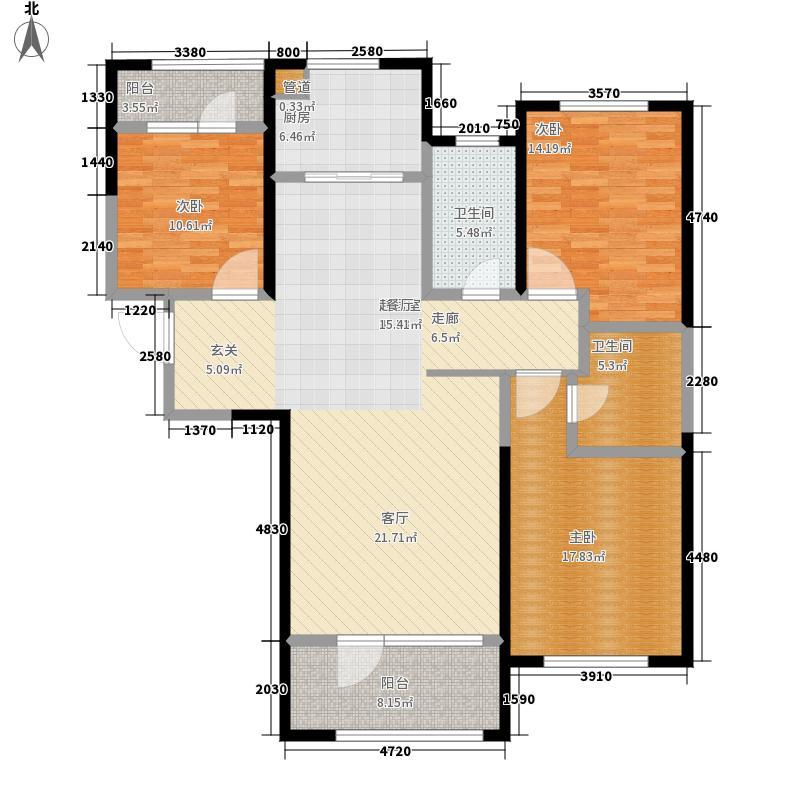 金茂湾136.00㎡C户型3室2厅
