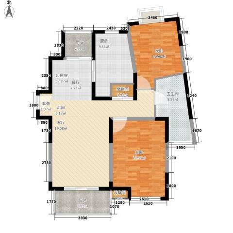 新时代富嘉花园2室0厅1卫1厨111.71㎡户型图
