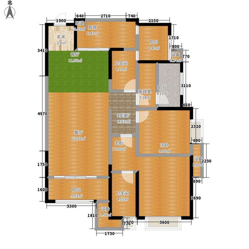 紫御江山134.00㎡紫峰7号楼标准层C户型