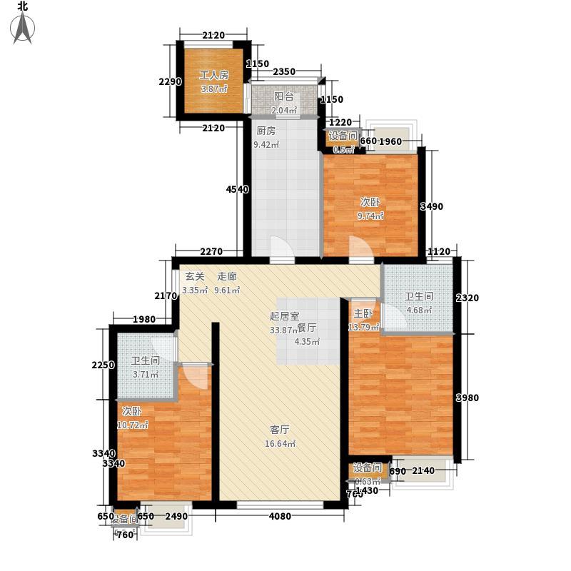 融科橄榄城140.81㎡二期3D3面积14081m户型