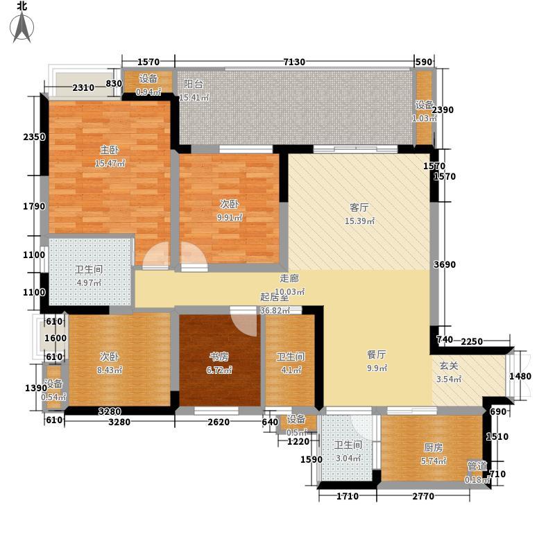 金科云湖天都117.07㎡1号楼1号房面积11707m户型