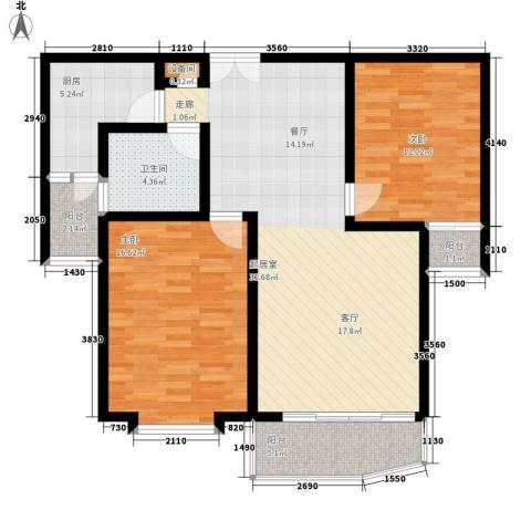 西雅图嘉萱苑2室0厅1卫1厨91.00㎡户型图