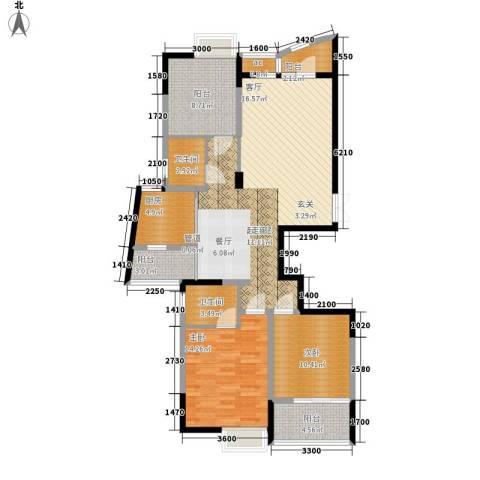 金色家园2室0厅2卫1厨132.00㎡户型图