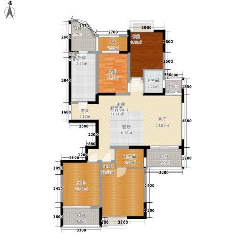 金色家园4室0厅2卫1厨164.00㎡户型图