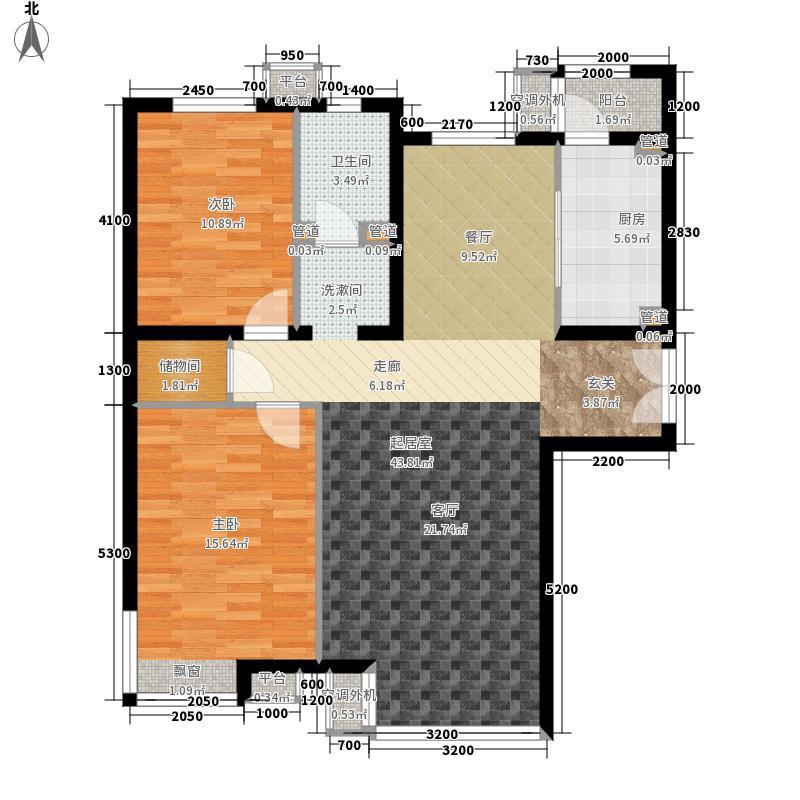 嘉铭桐城124.00㎡D1-A1单元032室面积12400m户型