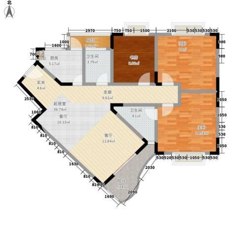 典雅森林花园3室0厅2卫1厨109.00㎡户型图