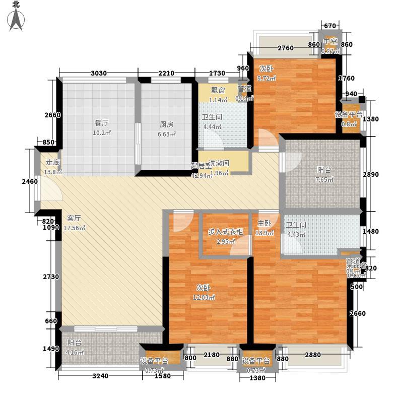圆融广场130.00㎡E3+户型4室2厅