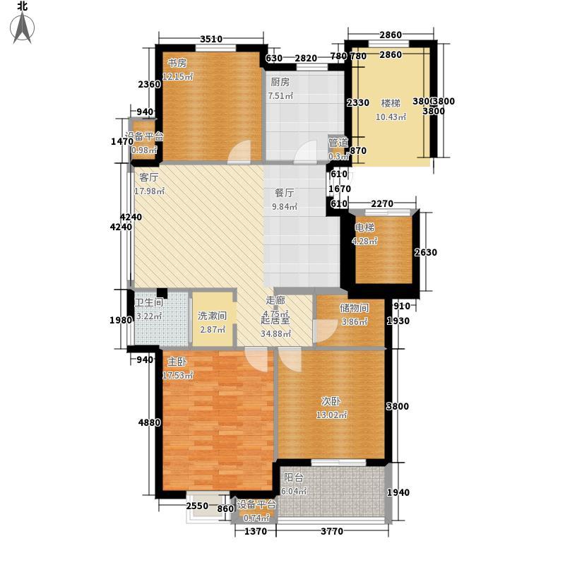 山水一品名苑117.00㎡C户型3室2厅